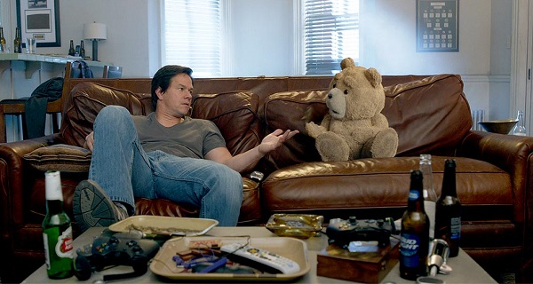 Ted 2 -- Mark Wahlberg and Ted (Voice by Seth MacFarlane)
