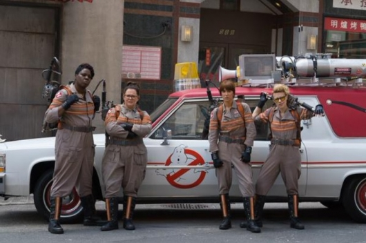 Ghostbusters Stars Leslie Jones, Melissa McCarthy, Kristen Wiig, and Kate McKinnon