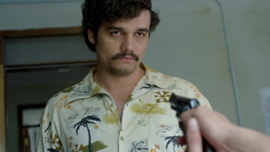 Wagner Moura as Pablo Escobar in Netflix's Narcos