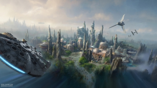 D23 Expo 2015: Star Wars Themed Land Concept Art #1