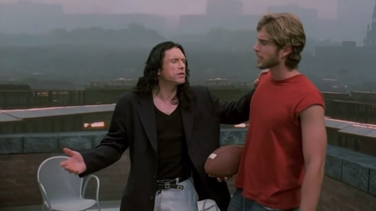 Tommy Wiseau and Greg Sestero in The Room