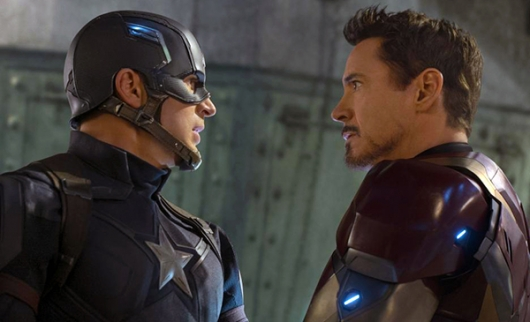 Movie Review: Captain America: Civil War, starring Chris Evans and Robert Downey Jr.