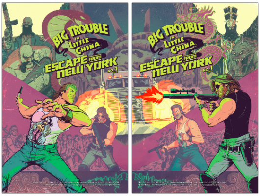 Big Trouble In Little China Escape From New York crossover covers