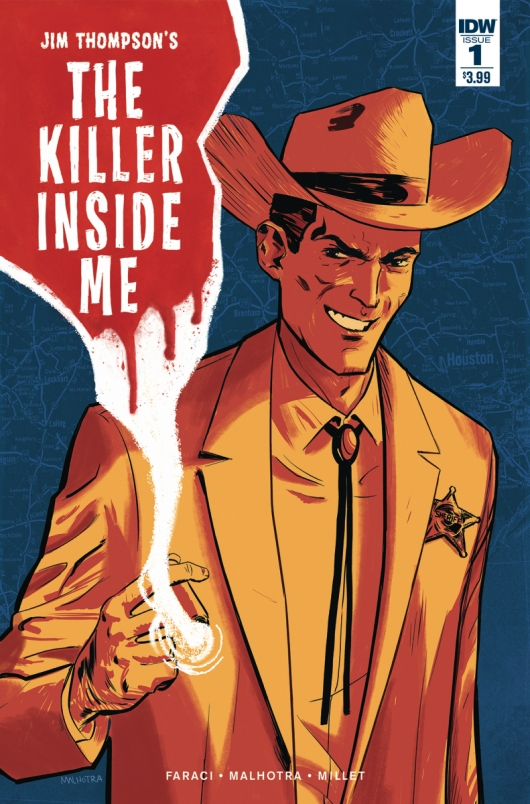 Jim Thompson's The Killer Inside Me #1 cover A by Vic Malhotra IDW