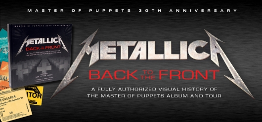 Metallica: Back to the Front book banner