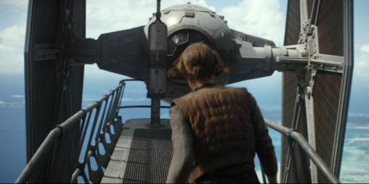 Rogue One: A Star Wars Story Jyn Erso vs Tie Fighter