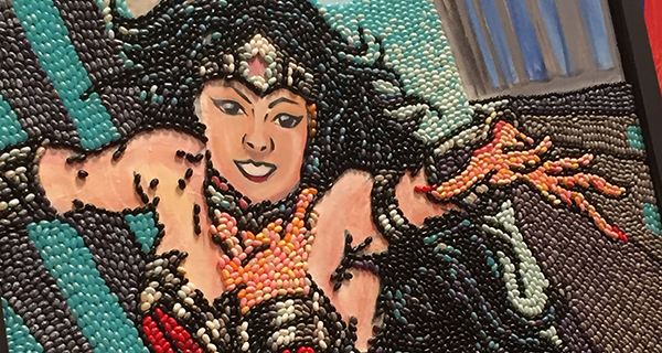 Jelly Belly Wonder Woman art