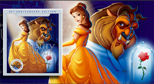 Beauty and the Beast 25th Anniversary Edition Blu-ray banner