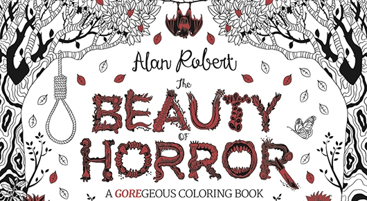 The Beauty of Horror coloring book banner
