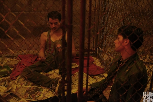 Dirk Gently Todd and Dirk in a cell