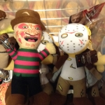 Freddy Krueger and Jason dolls