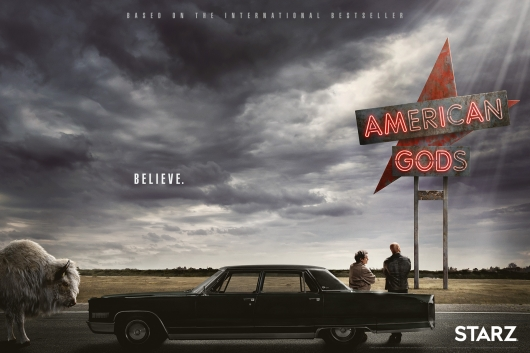 American Gods poster banner premiere date
