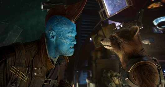 Yondu and Rocket in Guardians of the Galaxy Vol. 2