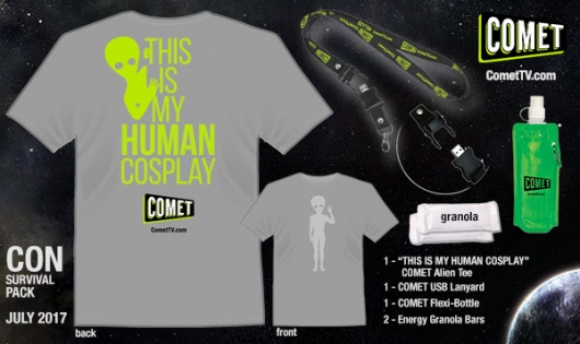 Comet TV Con Survival Kit prize pack
