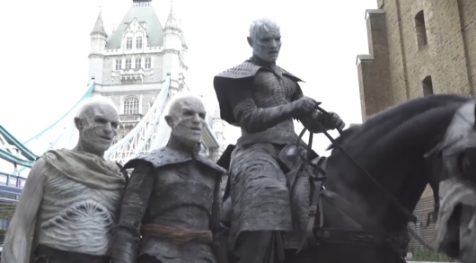 Game of Thrones White Walkers Visit London