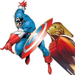 Captain America vs. The Rocketeer
