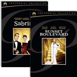 Sabrina and Sunset Boulevard DVDs