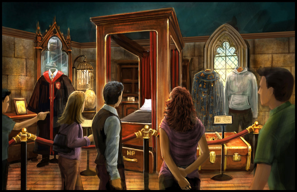 Harry Potter Museum Exhibition Boys Dorm Room