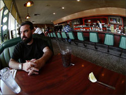 The artist, a diner: Coop © Photo by Ruth