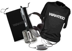 Win Awesome WANTED Prizes. Shirts, headphones and more!