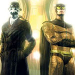 Watchmen – The End Is Nigh game images. Rorschach and Nite Owl