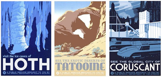 Star Wars Retro Inspired Travel Posters