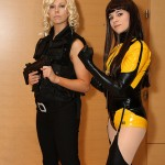 Cosplay Women of Dragon Con: Caprica 6 and Laurie Jupiter / Silk Spectre II