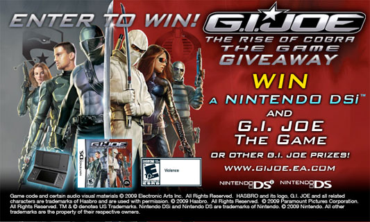 G.I. Joe: The Rise of Cobra Game Giveaway
