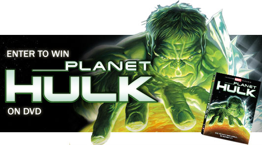 Enter to win Planet Hulk on DVD