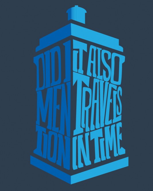 Doctor Who - It Also Travels In Time shirt