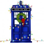 Christmas TARDIS wrapping paper