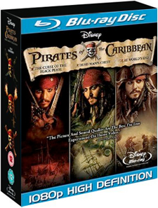 Pirates of the Caribbean Trilogy Blu-ray DVD set