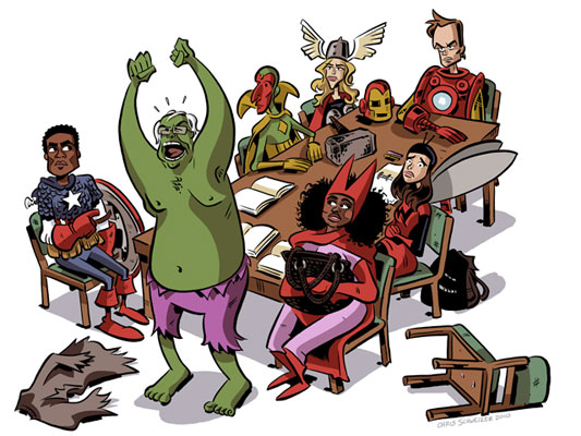 Community cast as The Avengers