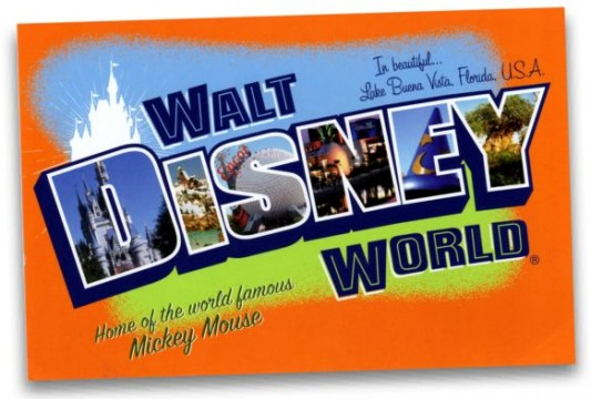 Disney World postcard