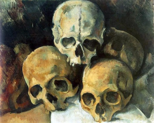 Cezanne Pyramid Of Skulls