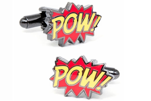 POW! Crime Fighter Cufflinks
