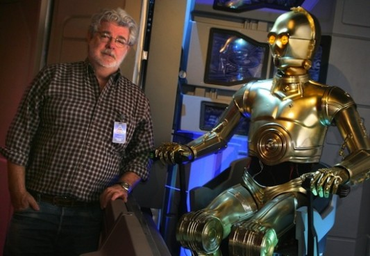George Lucas At Disneyland