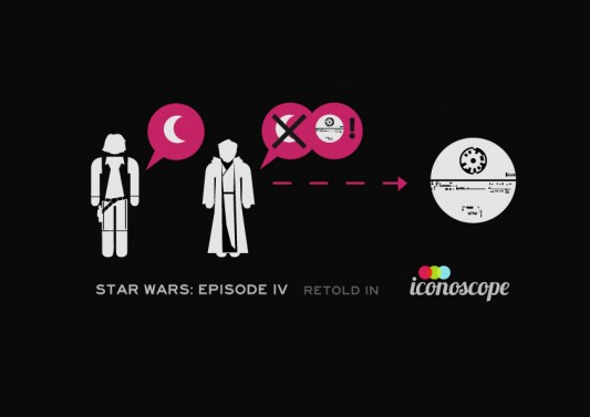 Star Wars: Episode IV Retold With Digital Icons