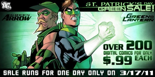 DC Green Sale for St. Patrick's Day
