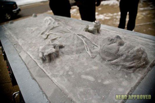 Han Solo In Carbonite Carved From Ice