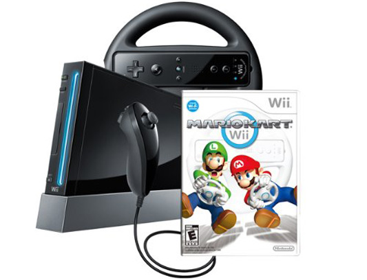 Wii Console with Mario Kart Wii Bundle
