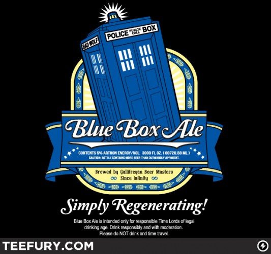 Doctor Who Blue Box Ale Shirt