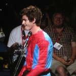 SDCC 2011: The Amazing Spider-Man panel: Andrew Garfield shows up in Spider-Man outfit
