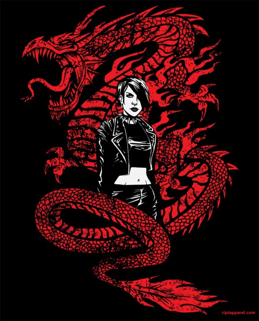 Geek gear girl with the dragon tattoo shirt salander s for The girl with the dragon tattoo t shirt