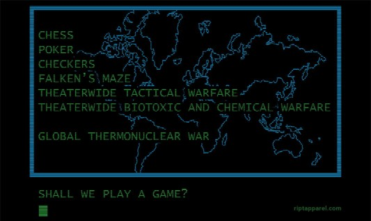War Games - Shall We Play A Game?