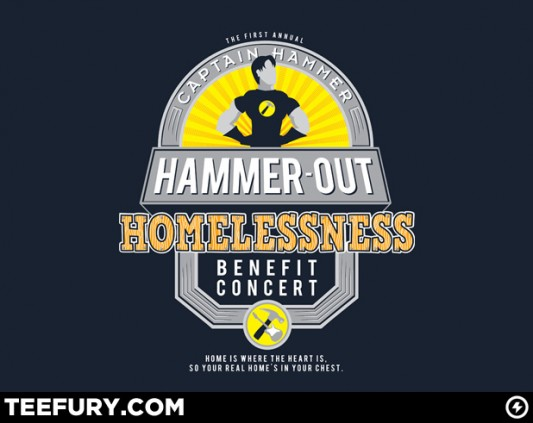 Dr Horrible Shirt - Hammer-Out Homelessness