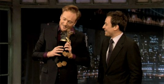 conan o'brien returns to 'late night' set to retrieve triumph from
