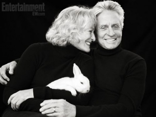 Michael Douglas and Glenn Close from Fatal Attraction