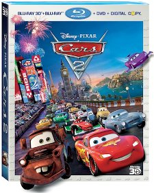 Cars 2 Blu-ray 3D 5-Disc Combo