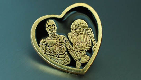 Star Wars Gold Heart Pin